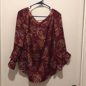 Loft Outlet 3/4 sleeved blouse
